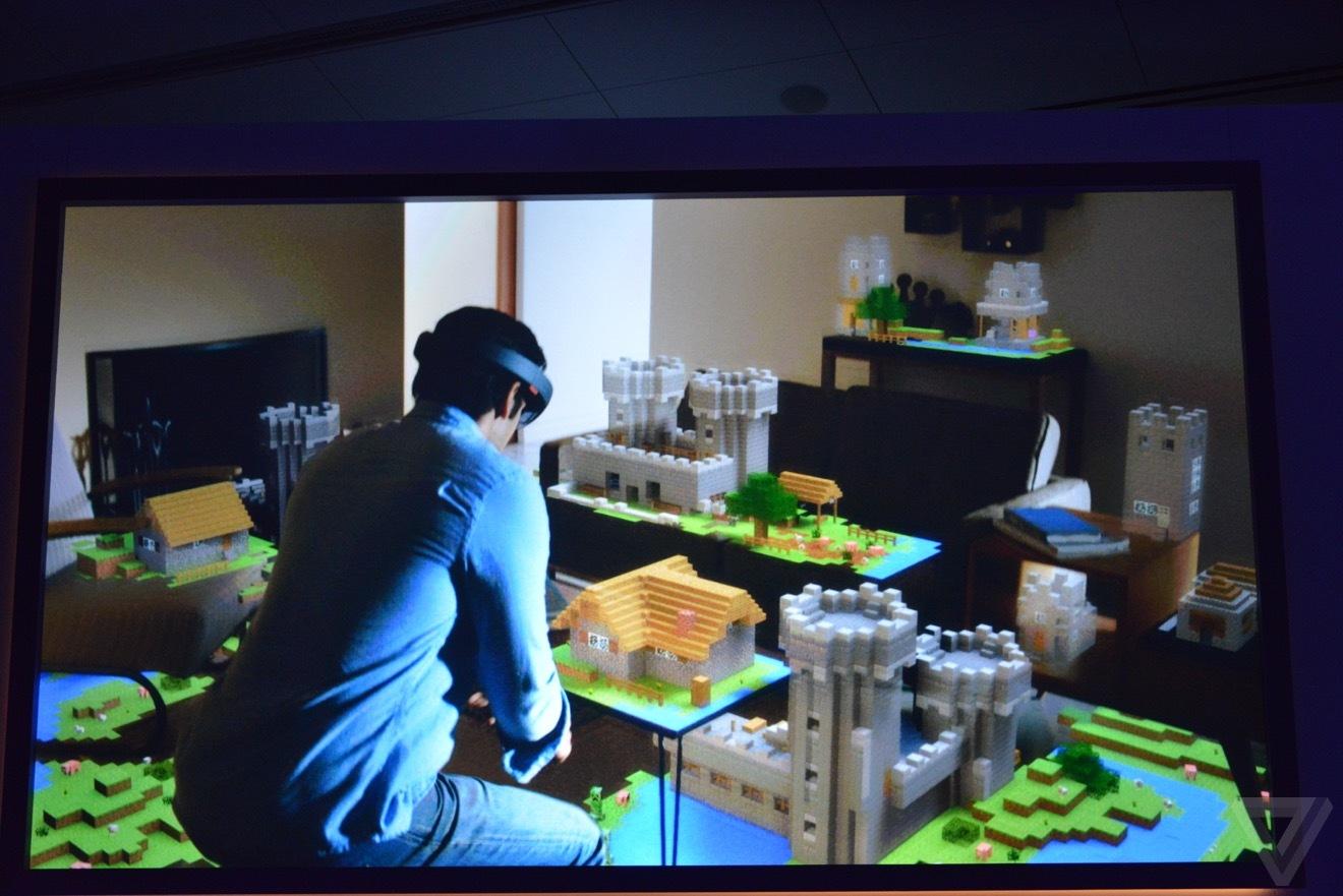 微软发布虚拟现实技术 Holograms 和HoloLens 智能眼镜