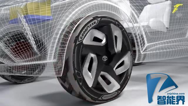 固特异BH03的概念轮胎可以给电动车充电