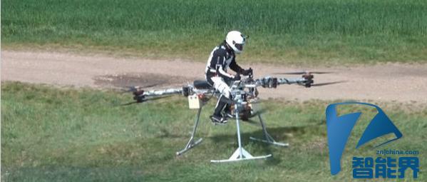 现代版莱特兄弟将无人机改造成载人机