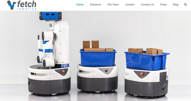 Fetch & Freight 萌萌哒拣货机器人组合