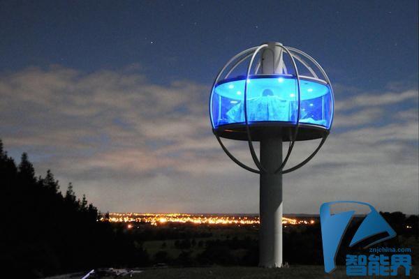 新西兰男子花费7万美元建造高科技空中寓所