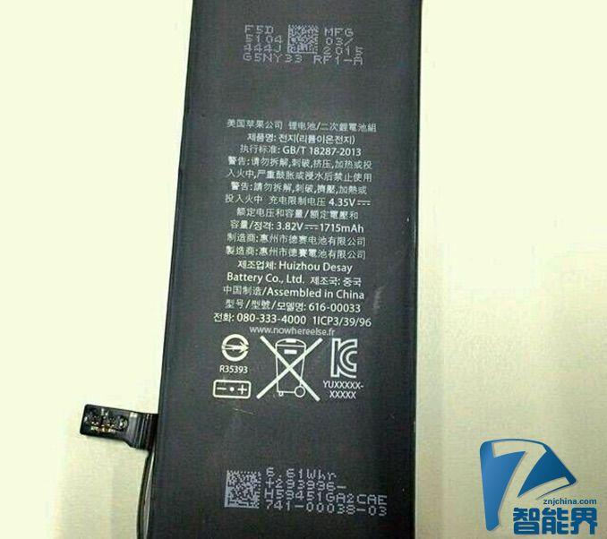 悲剧:iPhone 6s 电池容量或只有1715毫安
