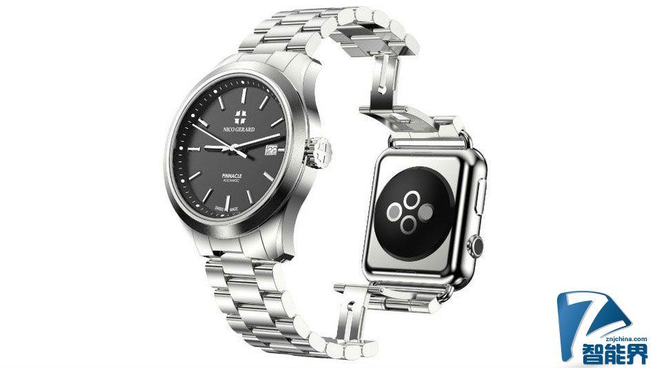 虽然不懂意义在哪,但有人做了款装有 Apple Watch 的手表...
