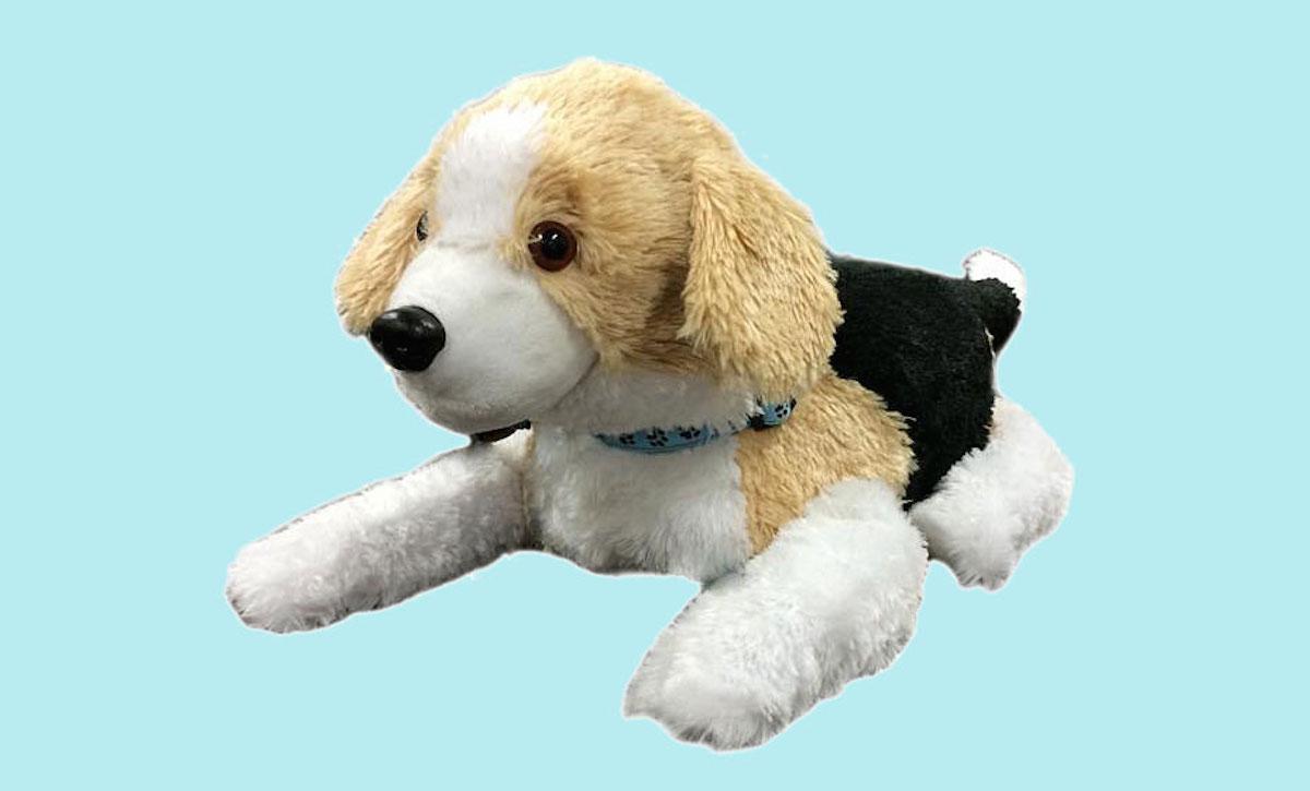 这只绒毛小狗不是玩具,而是用于动物辅助治疗的