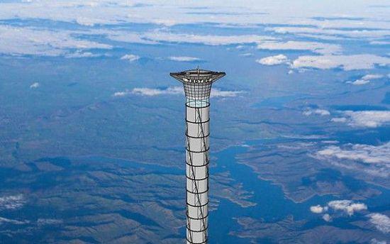 可充气的太空电梯:高度约 20 千米