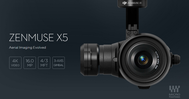 大疆发布新一代摄像神器,禅思X5微型4/3云台相机
