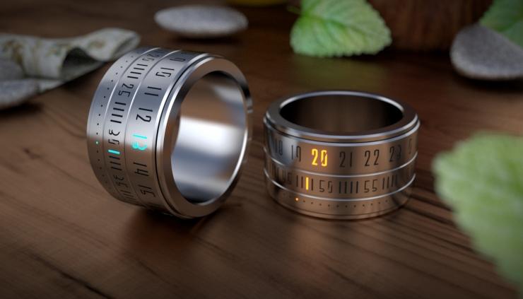 Ring Clock:用戒指看时间