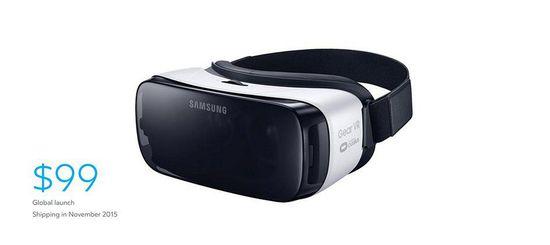 消费者版Gear VR售价99美元,11月上市