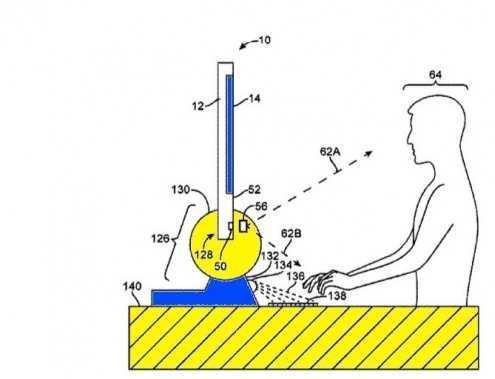 苹果新专利:听说有角度摄像头和虚拟键盘更配?