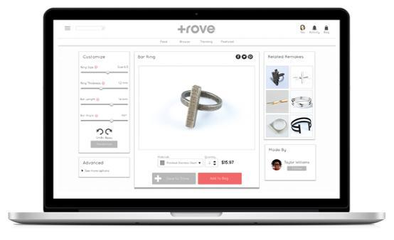Trove珠宝3D打印服务 制作前可塑料模型试戴