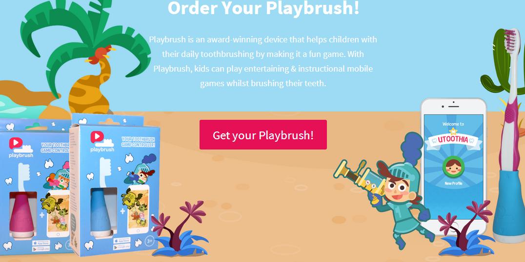 游戏是最好的老师,Playbrush 推出能玩游戏的儿童智能牙刷