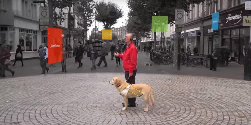 微软的3D音频技术,帮助弱视人群进行城市导航