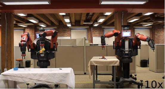 """会""""照猫画虎"""" 具有学习能力的Baxter机器人"""