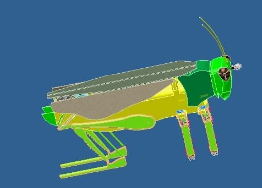 这个机器人像蝗虫 但跳得比它高