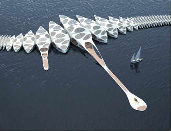老外展示浮动酒店概念 能跟着洋流移动或变形