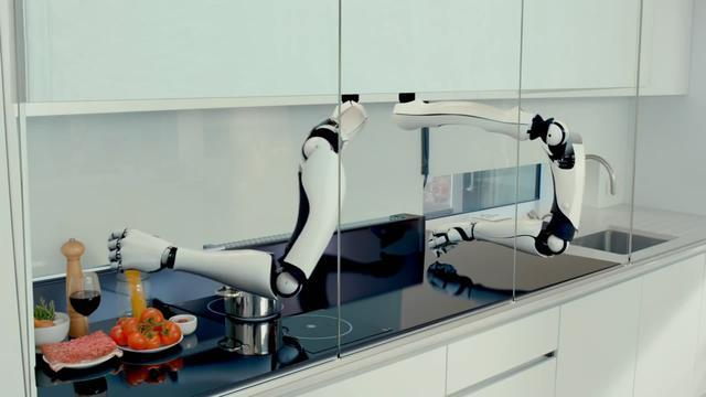 """这个机器人""""厨师""""好能干 又能做饭又洗碗"""