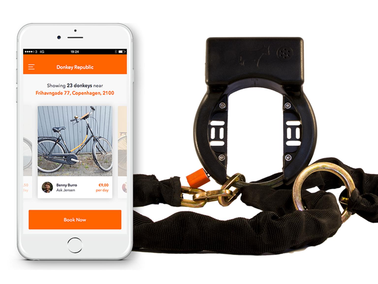 【智能界大百科】AirDonkey智能自行车锁可出租你的闲置自行车
