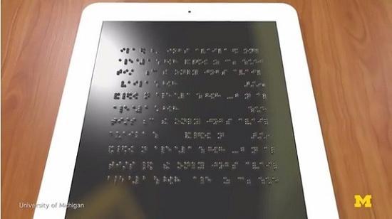 视障者也能玩 盲文平板电脑高达36万