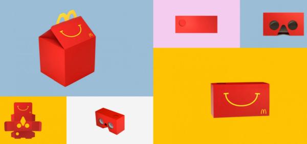 麦当劳推出餐盒版VR眼镜 浓郁鸡肉味