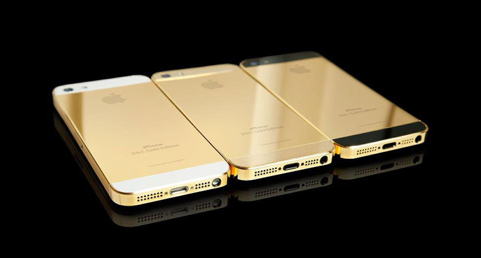英国奢侈品公司推出纯金版iphone SE 售7.7万美元