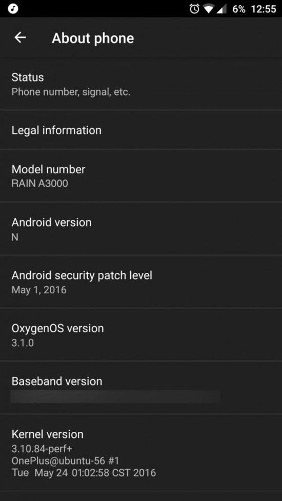 一加3配置完全曝光:已经用上Android 7.0