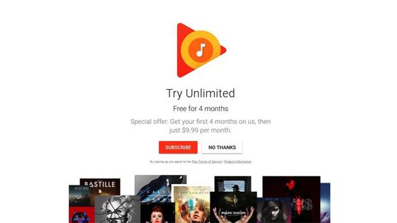 苹果音乐发展快速 谷歌心急宣布四个月免费听!