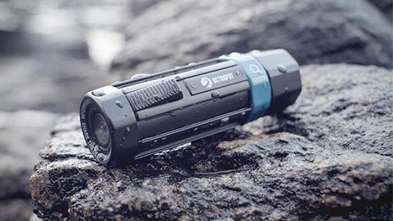 Octospot潜水相机防水深度200米 可拍4K视频