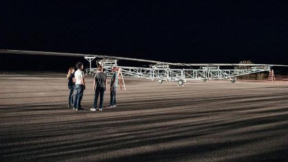 Facebook上网用途无人机试飞 翼展宽度如波音747