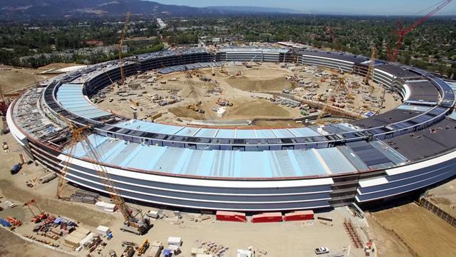 看看无人机拍摄的50亿美元苹果新总部啥样了