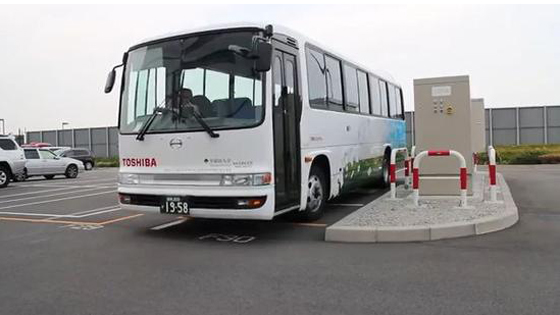 东芝无线充电巴士上路 一次行驶89公里