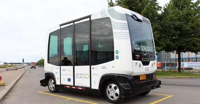 这款外观略萌的无人驾驶巴士,马上就要在芬兰上路
