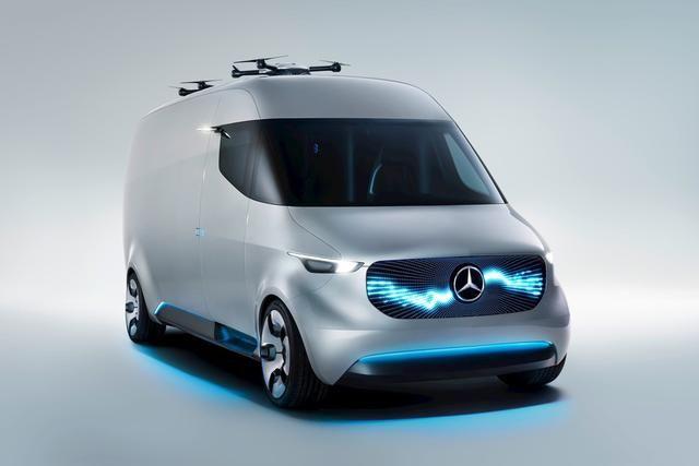 奔驰展示Vision Van商务概念车 还配有无人机
