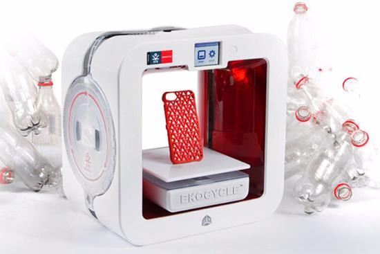 最环保的3D打印机 原料用的可口可乐瓶子