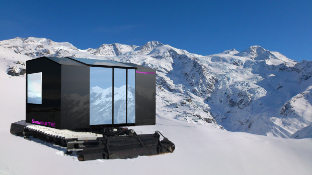 用铲雪机把房子建在雪山上 配置堪比五星酒店