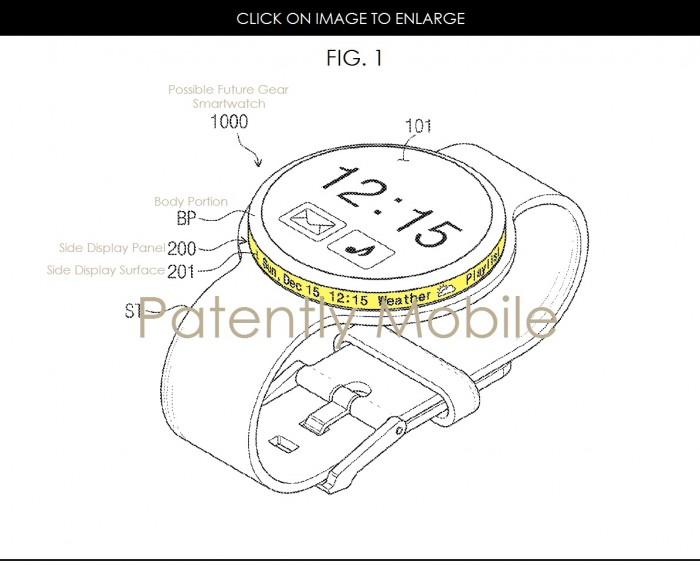三星披露新专利 智能手表可搭载第二块环形屏幕