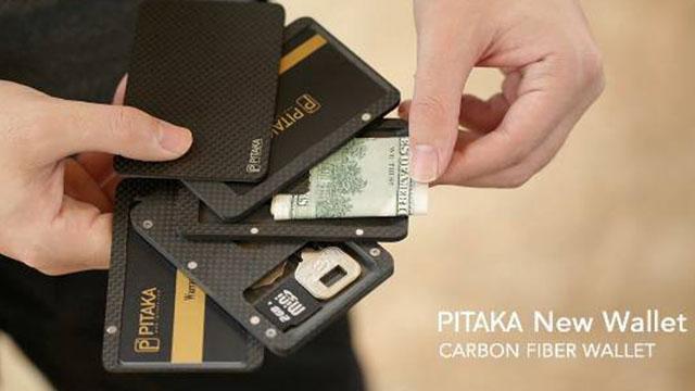 钱包不够特别? PITAKA造型时尚的碳纤维卡包