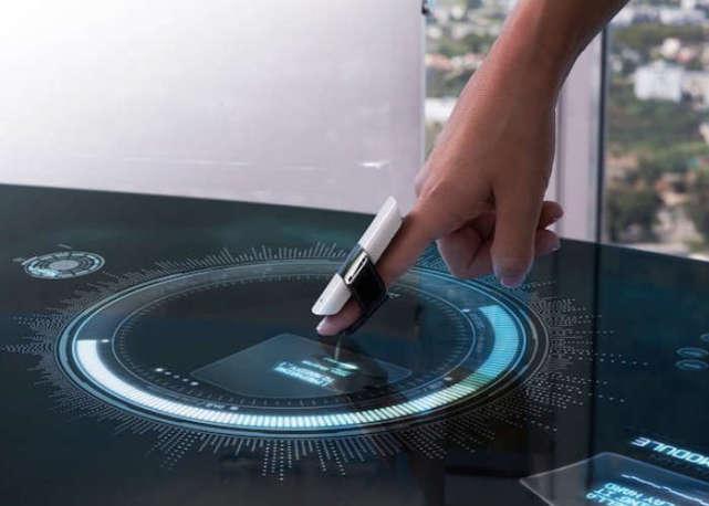 这款可穿戴指环 能将任何表面变成触控屏幕