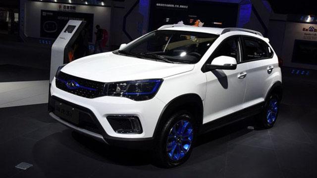 瑞虎3xe车型正式发布,蓝色装饰别致