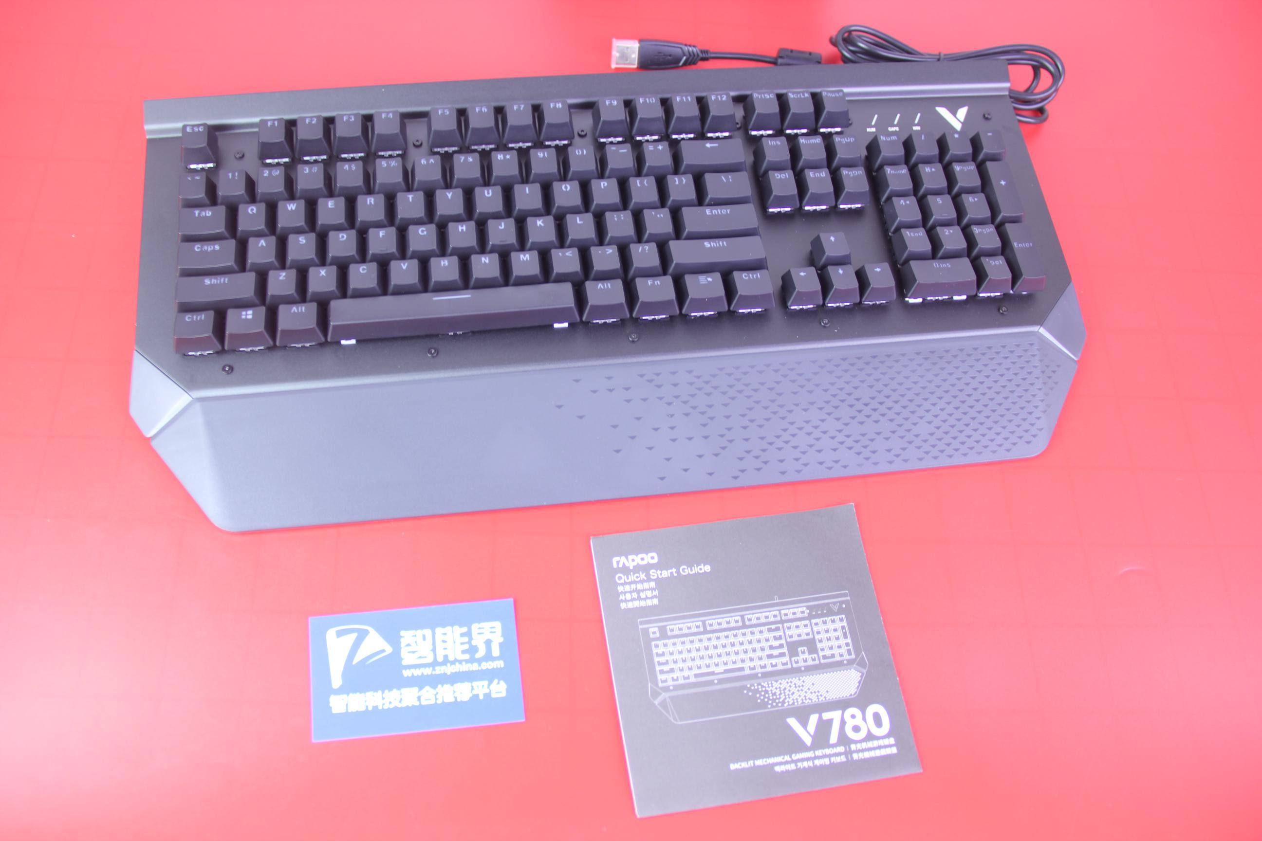 游戏办公皆可的外设必备——雷柏V780防水背光机械键盘