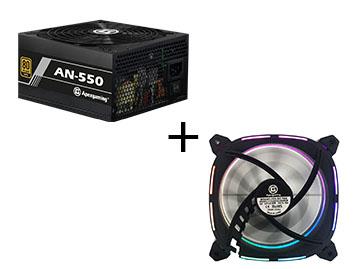 【免费试用】美商艾湃(Apexgaming)AN-550电源+无极ARGB电脑机箱风扇套装