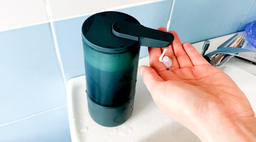 如何洗手更安全?自动出液瑞沃svavo智能感应分配器,使用感受