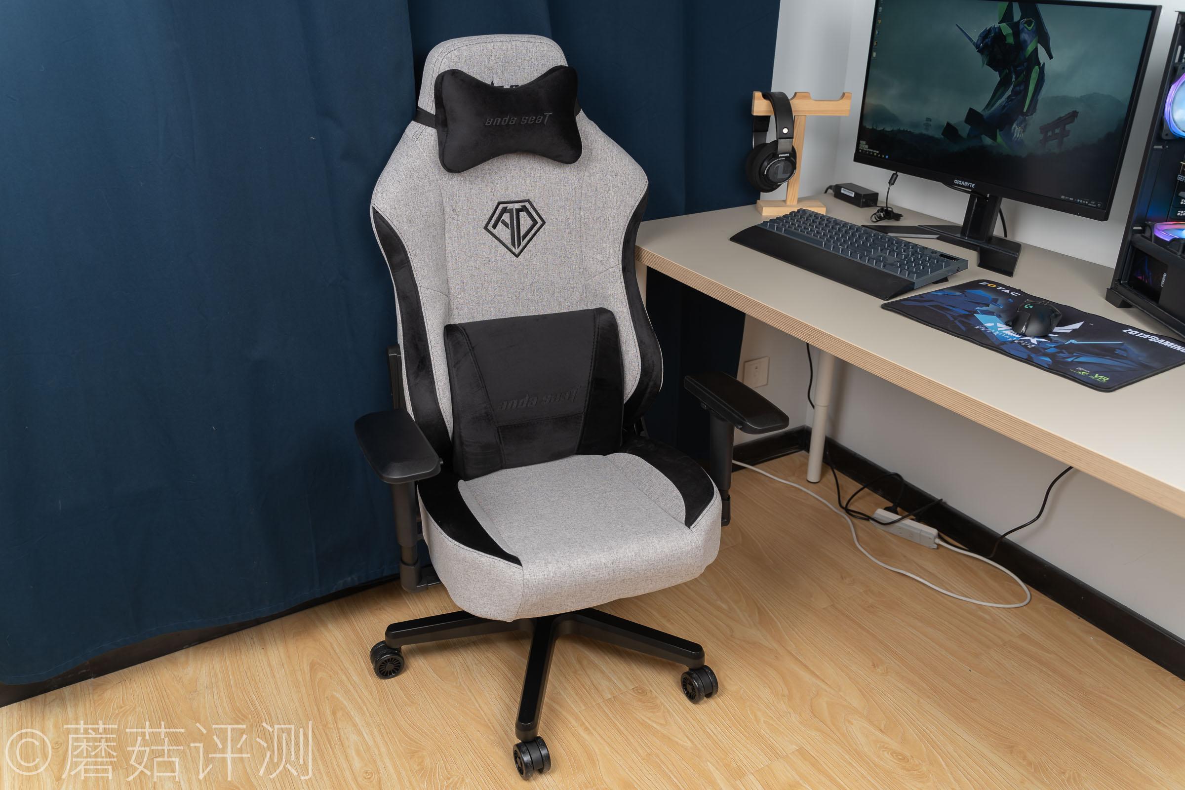 触感细节,宽大舒适、安德斯特北欧布艺电竞椅 体验评测